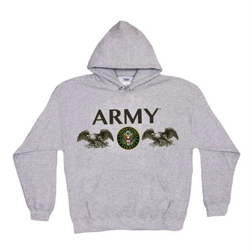 Pullover Hoodie Sweatshirt - XL / Army Seal - Grey