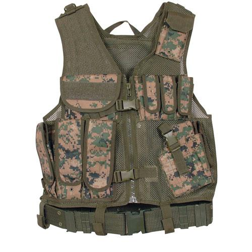 Mach-1 Tactical Vest - Digital Woodland