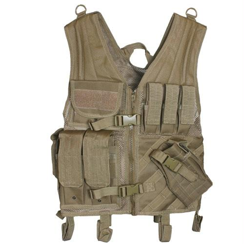 Assault Cross Draw Vest - Coyote
