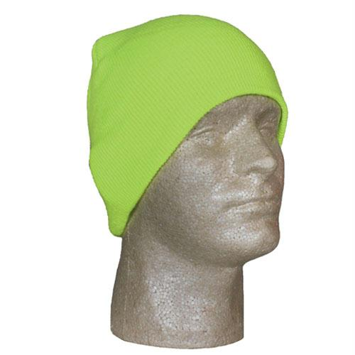 Beanie Knit Cap - Safety Yellow