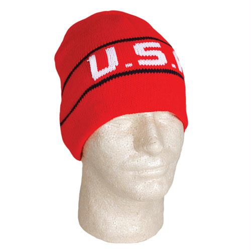 Usa Collection - USA Knit In Beanie - Red