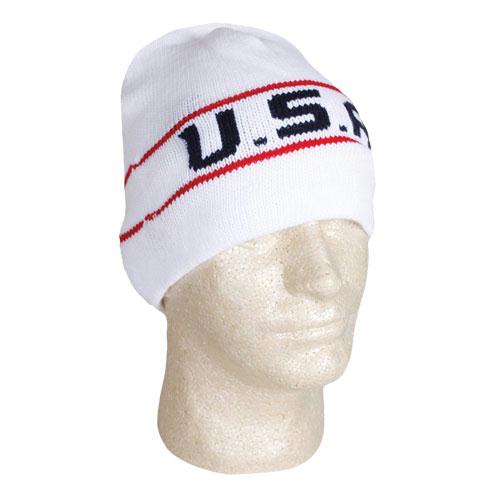Usa Collection - USA Knit In Beanie - White