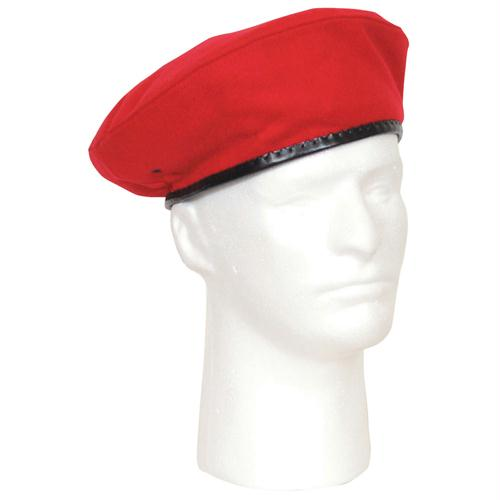 Military Beret - Red / 7 1/2