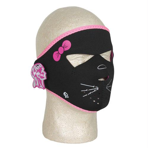 Youth Neoprene Face Mask - Full - Kitty Reversible to Pink