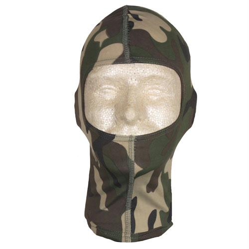 Balaclava With Extended Neck - Woodland Camo