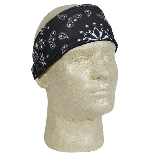 Headband - Black Paisley