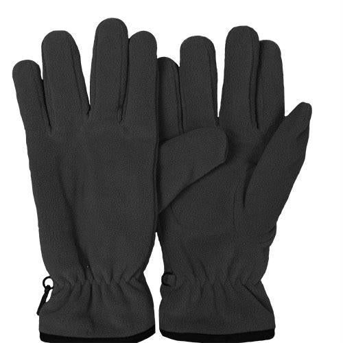 Insulated Military Style Fleece Gloves - Black / L