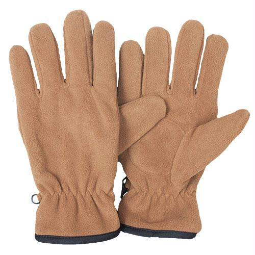 Insulated Military Style Fleece Gloves - Coyote / L