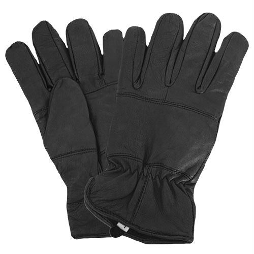 Insulated All Leather Police Gloves - S