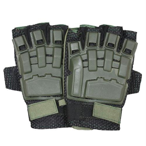 Half Finger Tactical Engagement Gloves - Olive Drab / XL