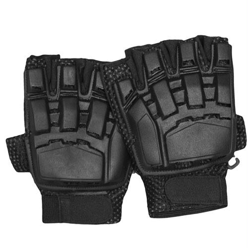 Half Finger Tactical Engagement Gloves - Black / S