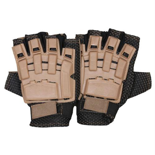 Half Finger Tactical Engagement Gloves - Coyote / L