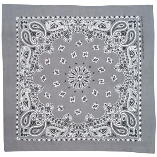 Cotton Bandanna - Charcoal Paisley