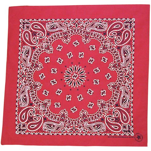 Cotton Bandanna - Red Paisley