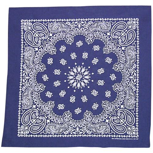 Cotton Bandanna - Navy Paisley