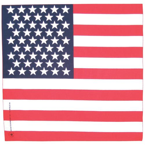 Cotton Bandanna - USA Flag