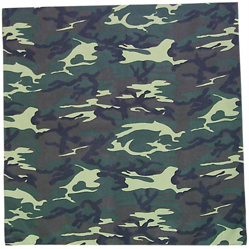 Cotton Bandanna - Woodland Camo
