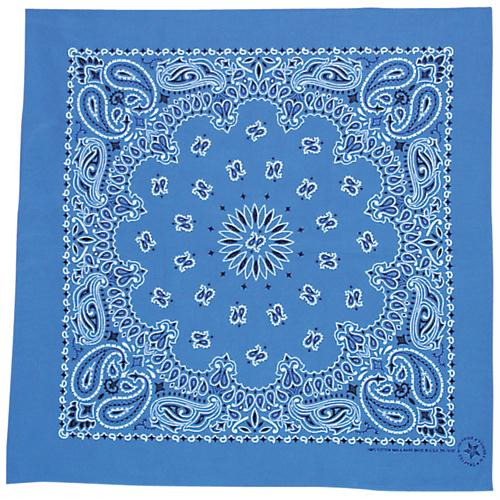 Cotton Bandanna - Royal Blue Paisley