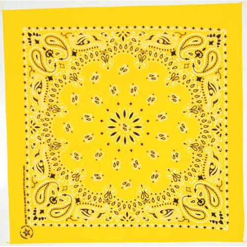 Cotton Bandanna - Lemon Paisley