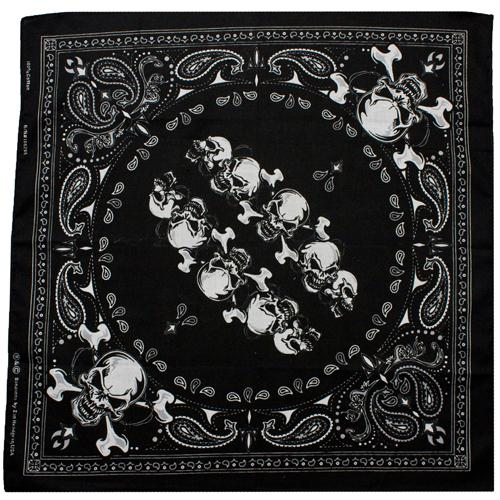 Cotton Bandanna - Skull Row