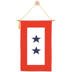 Armed Service Window Banner - 2 Star