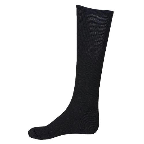 Silver Enhanced Sock - Black / L
