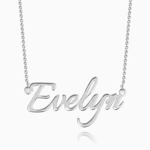 Personalized Name Necklace Sterling Silver