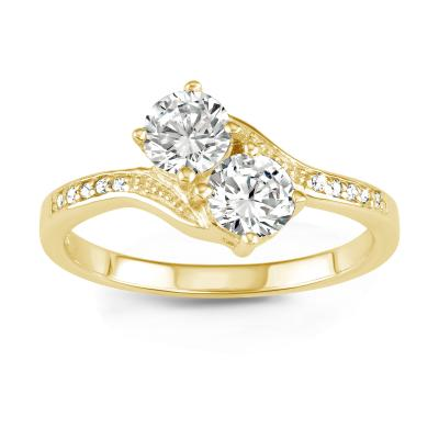 Personalized Love Ring, 14Kt Gold Plated
