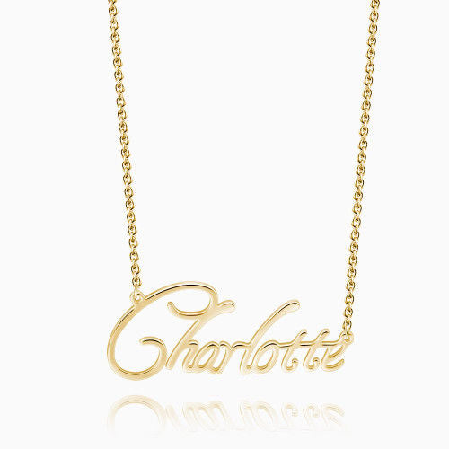 Custom Name Necklace 14Kt Gold Plated