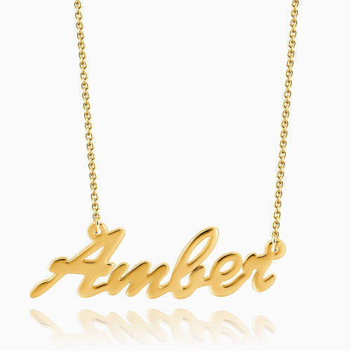 Name Necklace 14Kt Gold Plated