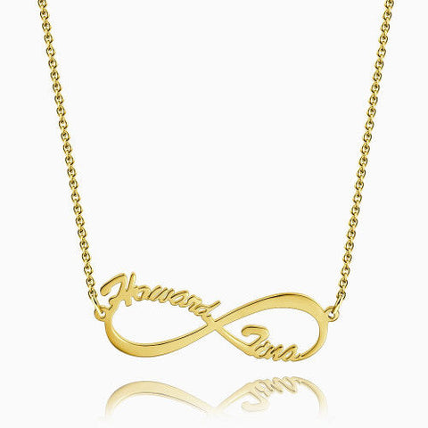 Infinity Name Necklace 14Kt Gold Plated