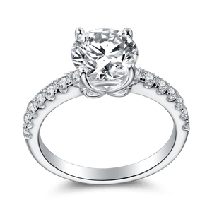 The Flawless Engagement Ring Silver