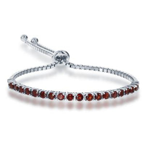 Garnet Tennis Bracelet, January Birthstone