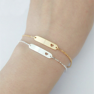 Heart Bracelet Gold Plated