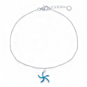 Starfish Blue Opal Anklet