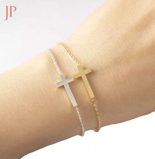 Cross Bracelet 14Kt Gold Plated