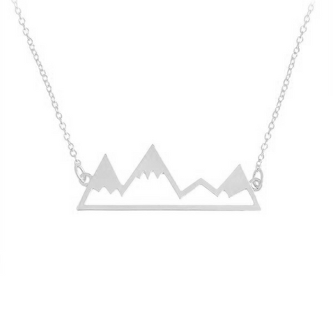 Mountain Necklace Silver