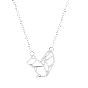 Squirrel Necklace Silver