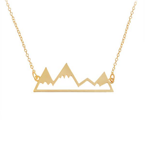 Mountain Necklace Gold Plated