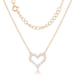 Small Heart Necklace 18Kt Rose Gold Plated
