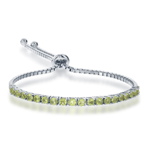 Peridot Adjustable Tennis Bracelet