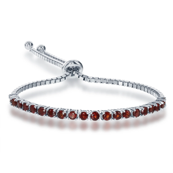 Garnet Adjustable Tennis Bracelet
