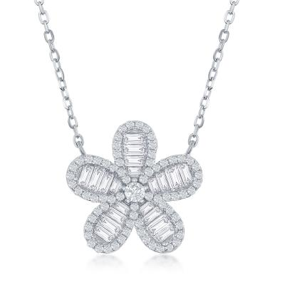 Flawless Flower Necklace Silver
