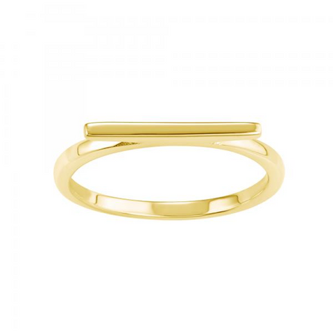 Bar Ring 14Kt Gold Plated
