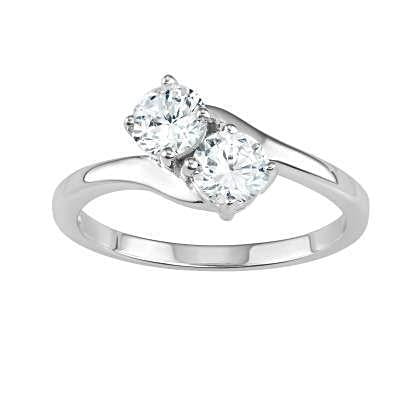 Flawless CZ Love Ring