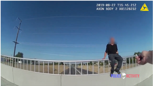 Suicidal Man Confronts Police - Body Camera Video