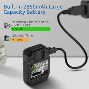 Boblov KJ21 High Definition Body Camera - Super Wide Angle with Auto Night Vision