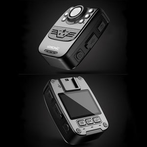 VOSONIC - Waterproof Police-Style Body Camera with Auto Night Vision
