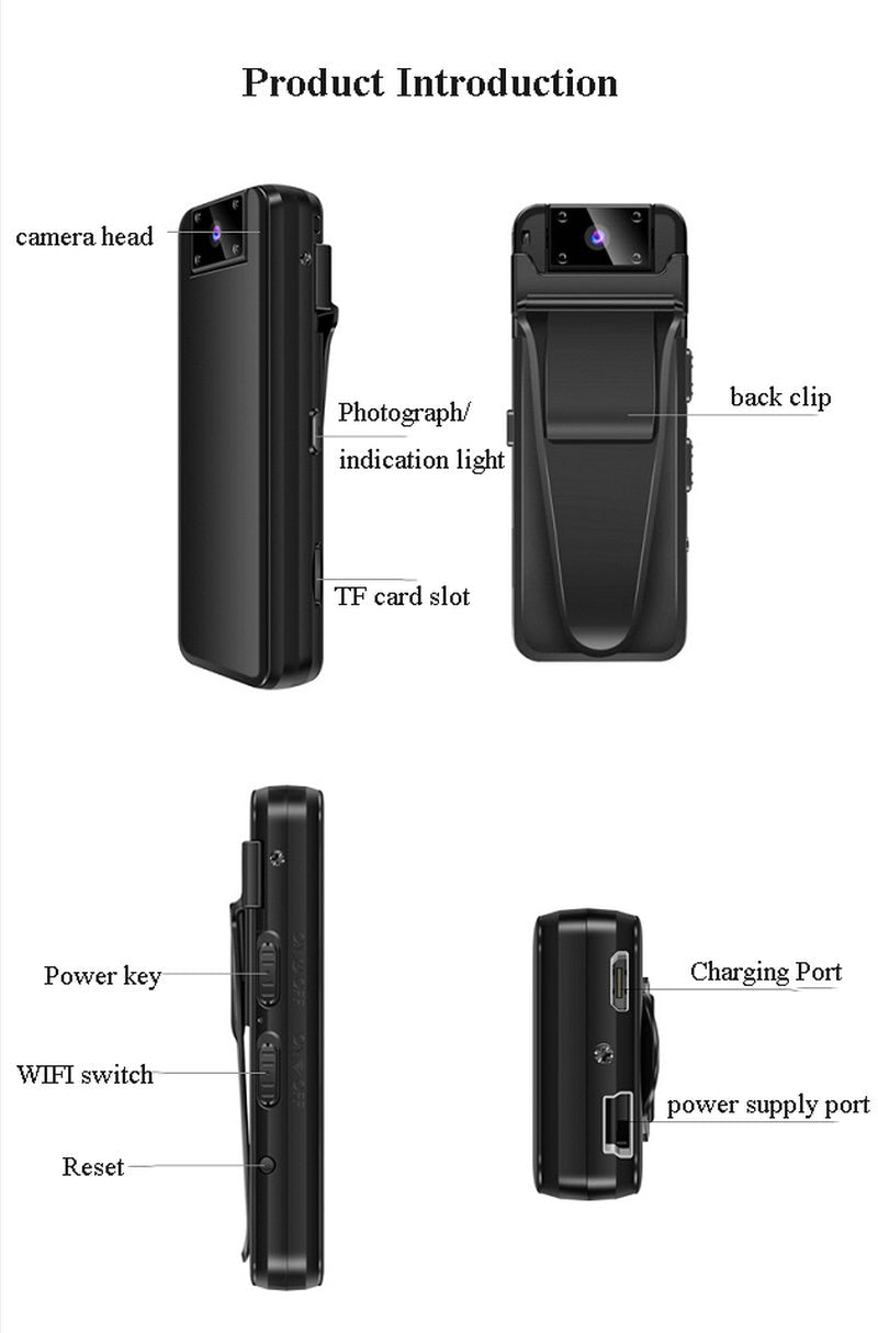SLEEK Body Camera with Night Vision