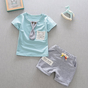 Summer Baby Boy Short Sleeve T-Shirt and Shorts